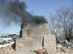 Primitive brick kiln