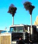Sources of BC: dirty diesel smoke