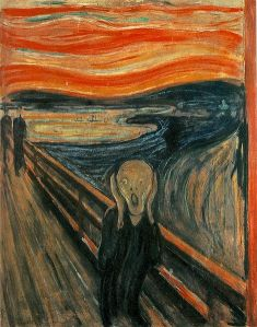 Volcanic sunsets depicted in Munch's The Scream