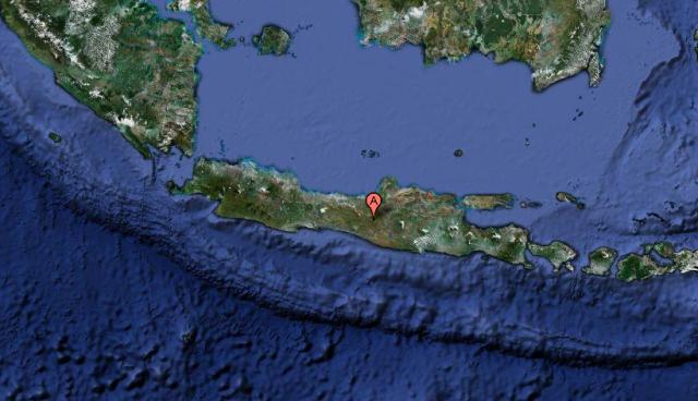 Mt. Merapi sits alongside the Sunda Trench.