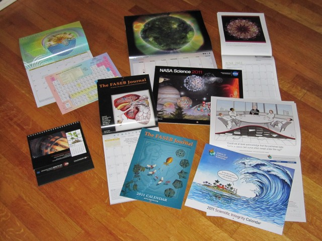 Cool science calendars