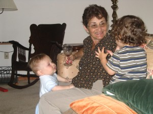 mom with Isaac and Rafi